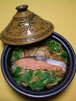 塩鮭の炊き込みご飯@タジン鍋 by akaneさん | レシピブログ - 料理 ...