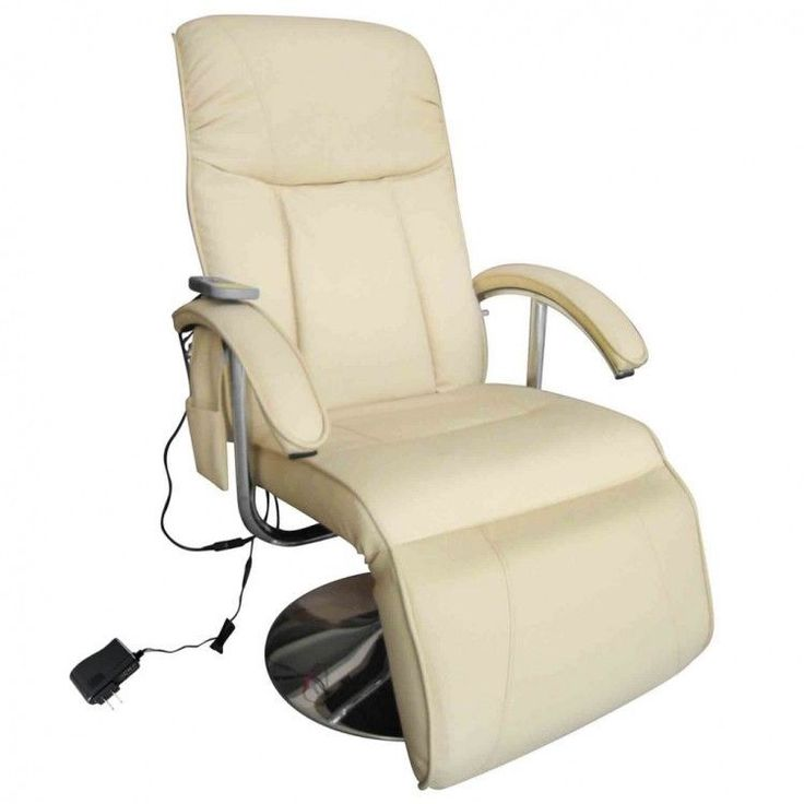Reclining Massage Chair Heated Electric Recliner Cream Faux Leather High Quality #Unbranded #Contemporary