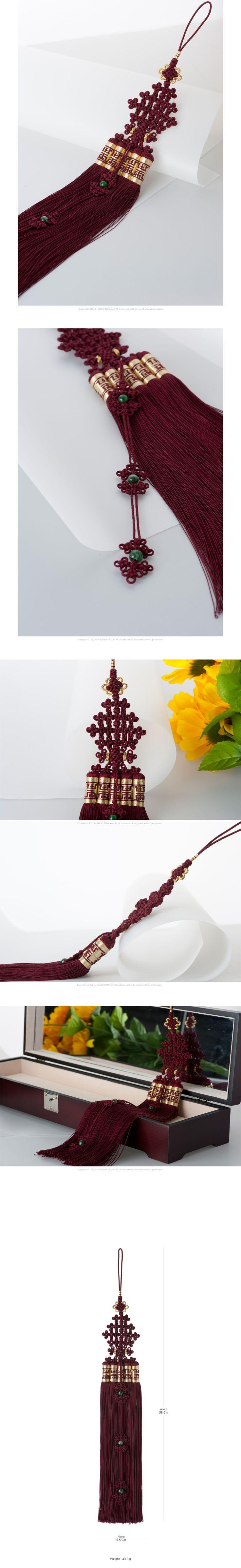 [[나스첸카] 쉽고 편안한 우리 전통 매듭 [고급스러운 색감의 자색 견사 노리개 술]]