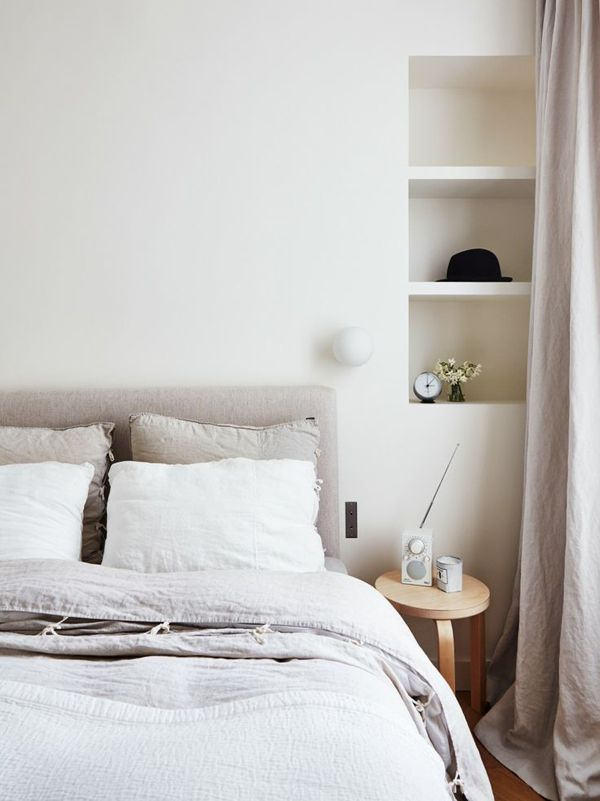 photo by idha lindhagBedding, Idha Lindhag, Interiors, Bedrooms Inspiration, Bedrooms Decor, Design, Bedrooms Shelves, Bedrooms Ideas, Linens Beds