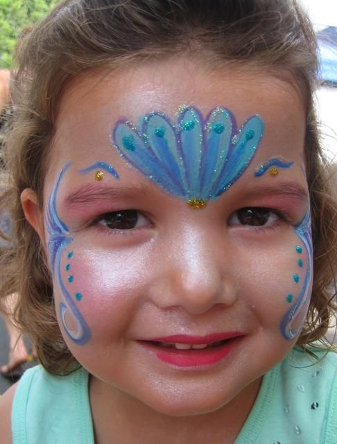 Mermaid face painting in My Photos by Miss Donna TheClown
