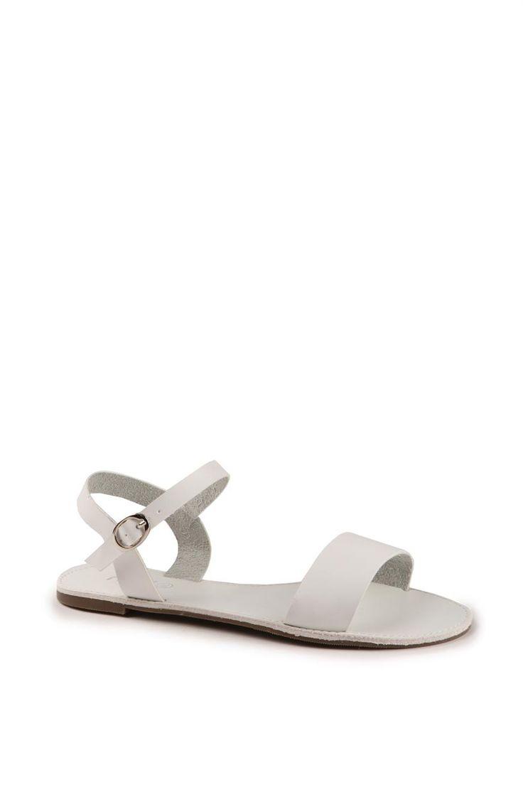 Moss Sandal, WHITE