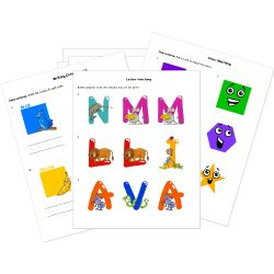 FREE Early Education Printables - coloring pages, alphabet letters, numbers, basic shapes, colors & more!