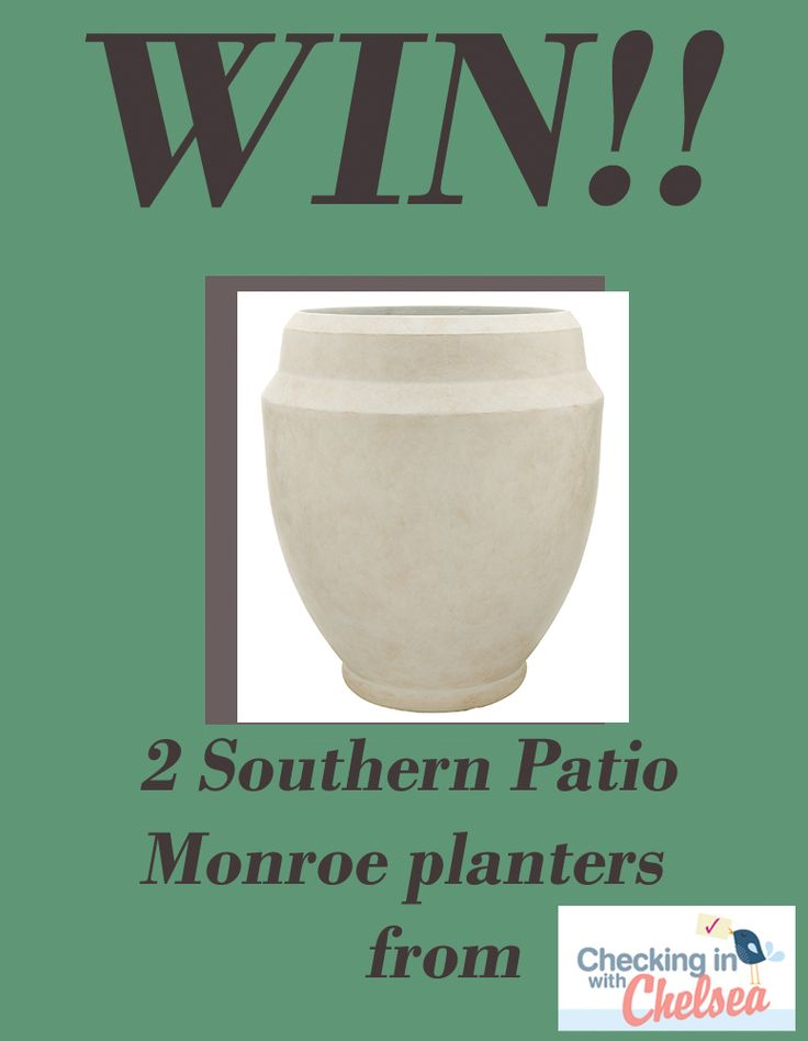Giveaway Featuring A And Monroe Planter From Southern Patio.