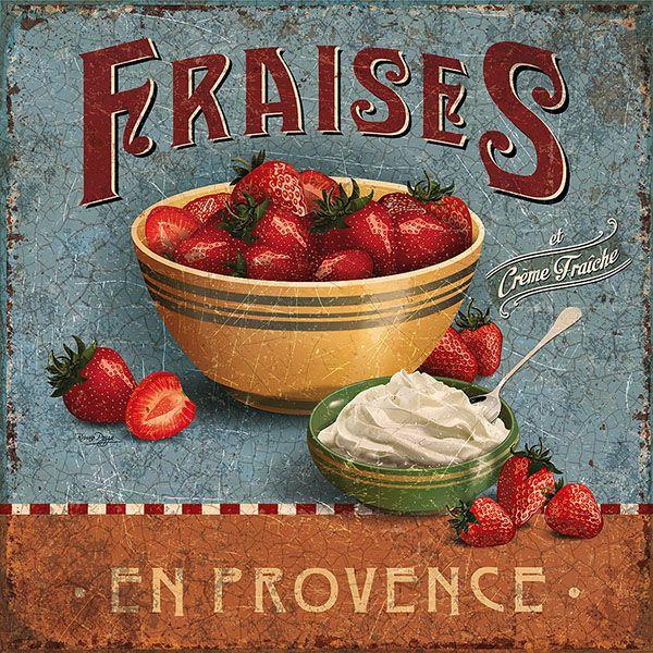 fraises provenzal servilleta postalvintage ads © bruno pozzo 2016