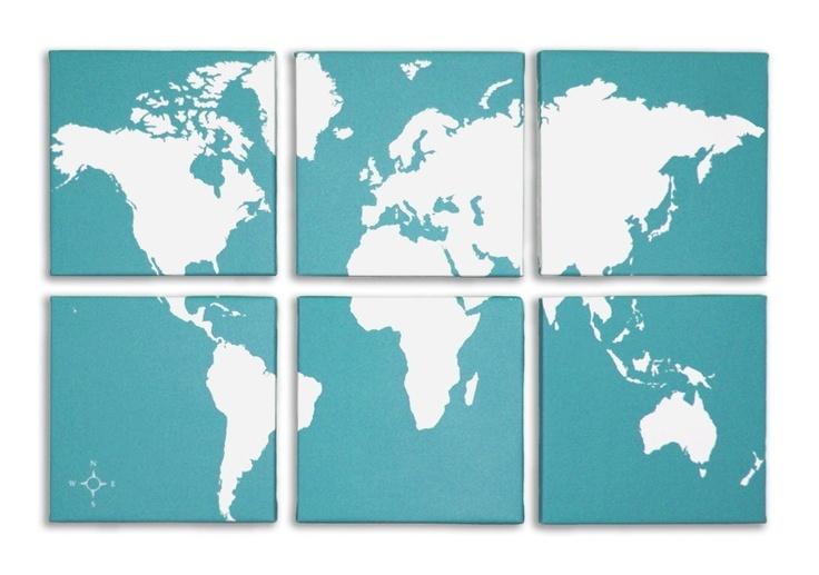 {World Map Canvas Set}  #incy interiors #dream children's room