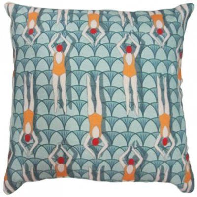The Swimmers 45cm cushion 100% Cotton 45cm Cushion cover.