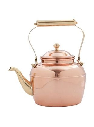 56% OFF Old Dutch International 2.5-Qt. Solid Copper Tea Kettle with Brass Handle