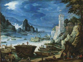 """""""Puerto con castillo"""" Paul Bril"""