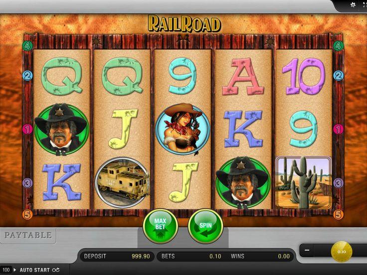 Drehe jetzt online Automaten Spiel RailRoad - http://freeslots77.com/de/railroad/