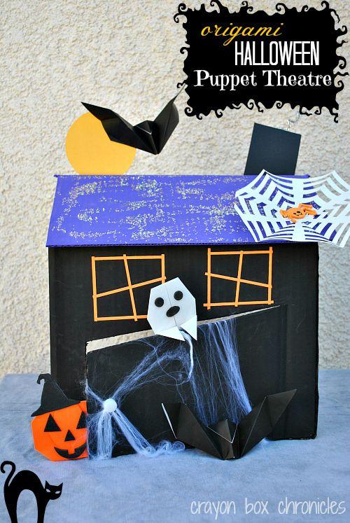 Fun cardboard/origami halloween scene