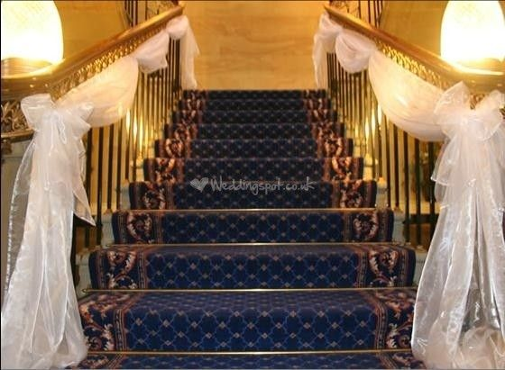 Decorating Stair Rail For Wedding | Stair Rail Decoration