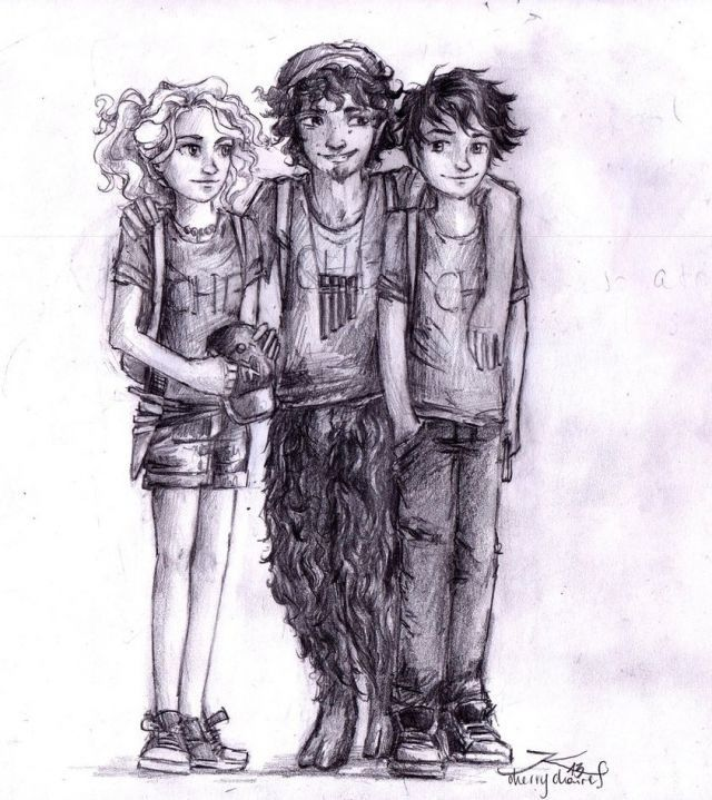 Annabeth Chase  Percy Jackson  and Grover underwoodPercy Jackson Grover And Annabeth