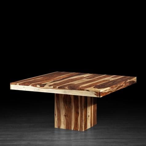 Table anand carr e en bois de rose cuisine pinterest for Agencement cuisine carree