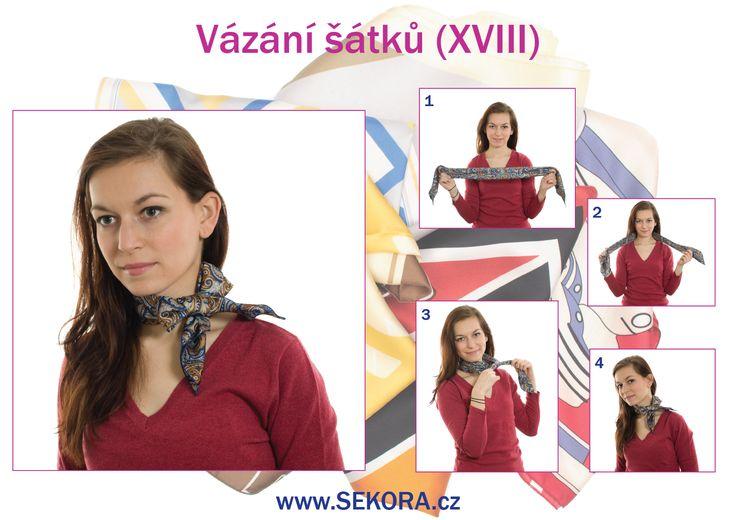 Vázání šátku XVIII http://blog.sekora.cz/?p=6977