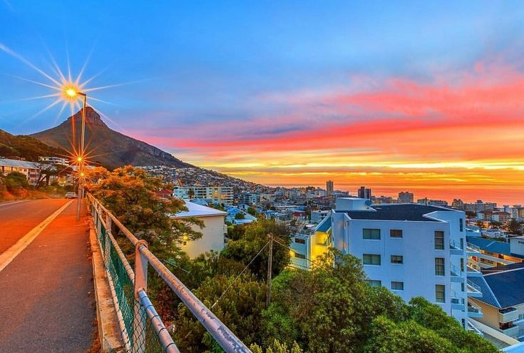 """Let the colors of the Cape Town sky paint your happiness""  Find where to stay in the Cape Town area  Post via Cape {Town} Etc @CapeTownEtc  @zunaid_baba"
