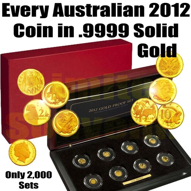 .9999 SOLID GOLD 8 Coin Limited Proof Full 2012 Australia Year Set RAM COA Cased