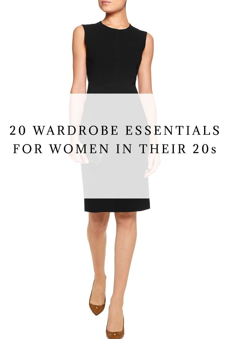 The 20s are a time of transition – particularly for your wardrobe. These are the years of milestones–when you get your first job, or maybe go to grad school. Transitioning from a college wardrobe to one that is more versatile, professional even, can be a lot of work. So to help you with that, I've put together a list of the 20 essentials you'll need in your wardrobe to help you fashionably get through your 20s.