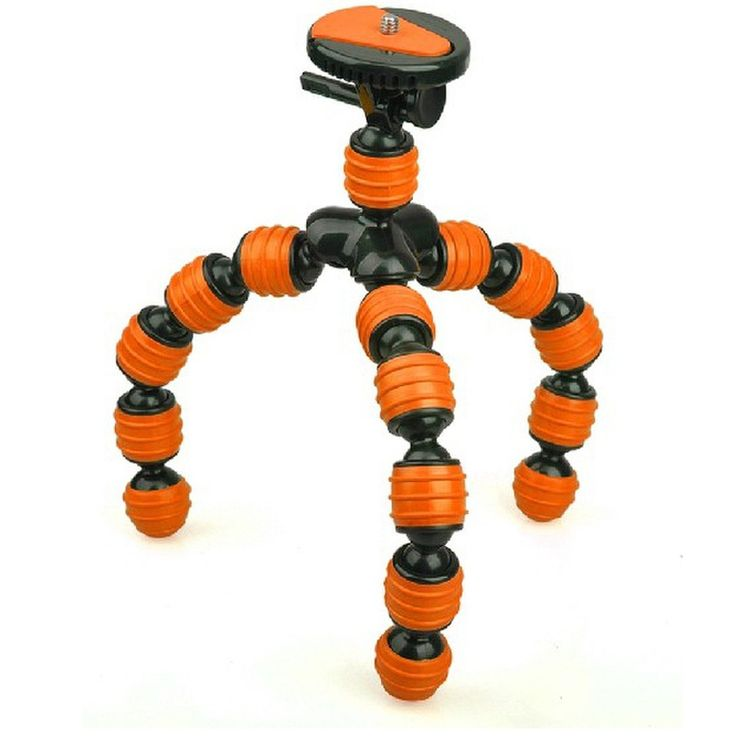 BeesPoad Flexible Tripod - 836-L - Orange Model  AUTD03OR Condition  New  Weight : 1.00 kg  Mini Tripod termurah hanya di Gudang Gadget Murah. BeesPoad memiliki kaki yang flexible / GorillaPod, sehingga Anda menyesuaikan posisi kaki dengan texture lantai. Panjang Max 28 cm - Orange