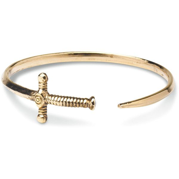 TOMS Gold Sword Bangle found on Polyvore