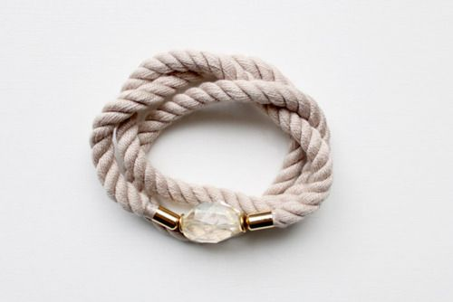 thevamoose:    Working on a small collection of rope, brass and gemstone pieces.Here's a preview of one of the samples…