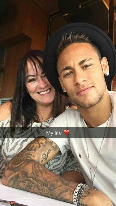 Neymar and his mom Nadine