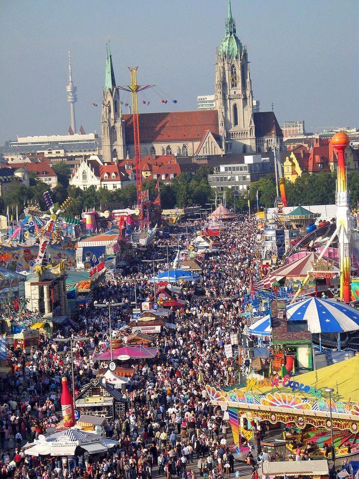 Munich Oktoberfest. Germany I have been there, what an amazing party. Don't be fooled though, the Oktoberfest is usually in September... if anybody can explain to me why please let me know!