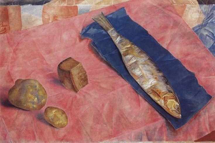 Petrov-Vodkin-Kuzma-seledka. Кузьма Петров-Водкин «Селедка», 1918 г. Государственный Русский музей, Санкт-Петербург.