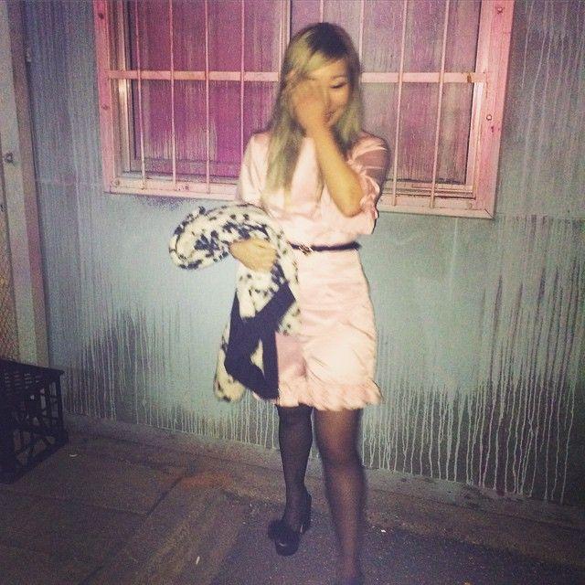Designer wearing the Dollface romper! @misszoee #wndlnd #dollface #pink #alley #designer #cbr #style