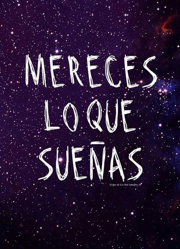 #sueños ✿ Quote / Inspiration in Spanish / motivation for learning Spanish / Spanish podcast  - Repin for later!