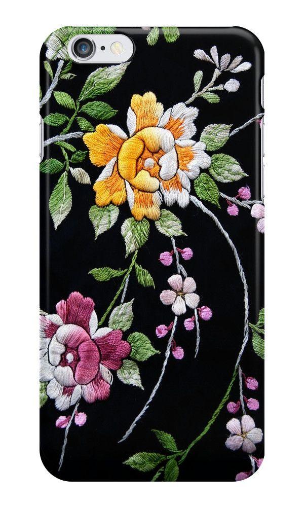 Flower Embroidary  on Vintage  Kimono  by Kim-maree Clark