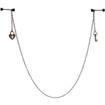 Slave to you Love Barbell Nipple Chain MADE WITH SWAROVSKI ELEMENTS #piercing #bodycandy #chain $12.99