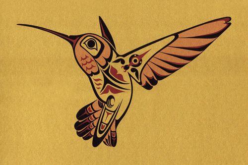 native art hummingbird
