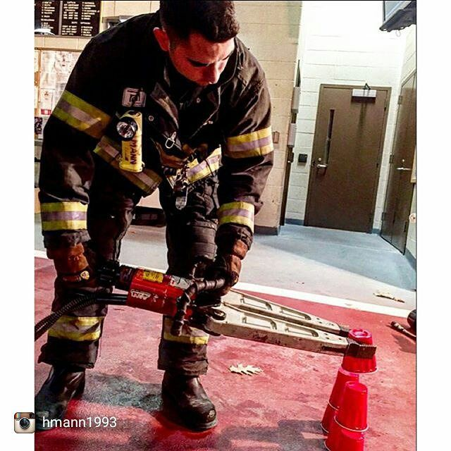 Drill til you can't get it wrong  Heavy rescue tool training last night. Roughly 40000 lbs of pulling force and the goal was to stack the solo cups without crushing them.