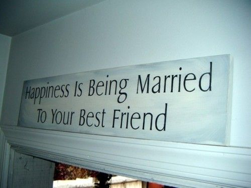 """Happiness is being married to your best friend."" #quotes #lovequotes"