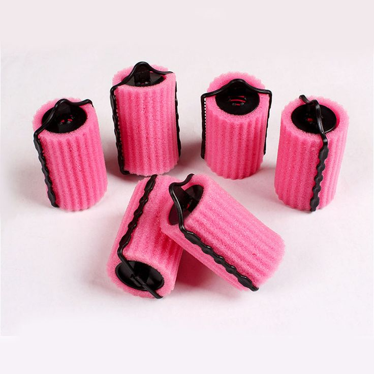 30Pcs DIY Hair Styling Tools Pink Sponge Curlers Hair Foam Rollers Salon Hairdressing Accessories Hair Curling Machine