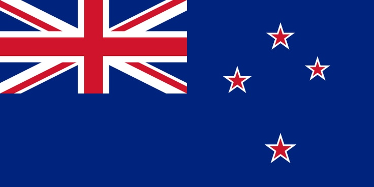 The current flag of New Zealand was officially adopted on June 12, 1902. It includes the British Blue Ensign, and a representation of the Southern Cross constellation, one that uses only four stars.