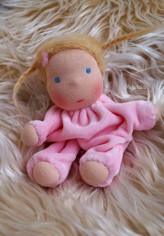 Tiny waldorf doll. Baby waldorf doll  16 cm/6.30 inch by Mojalala