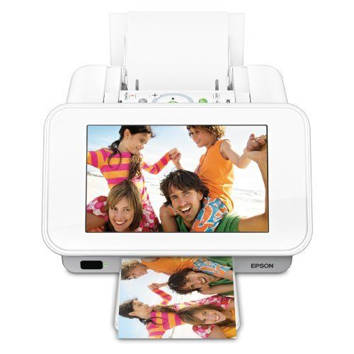 """Epson PictureMate Show Photo Printer and Digital Photo Frame (C11CA54203) by Epson. $284.40. From the Manufacturer                The best of both worlds. — Change the way you print and share photos with PictureMate Show from Epson. Its clever 2-in-1 design offers the best of both worlds, enabling you to print better-than-lab-quality photos, and also display  your favorite images on a high-resolution, 7"""", widescreen, digital photo frame — all without a PC. Jus..."""