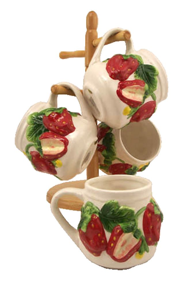Perfect Strawberry Kitchen Accessories | Marcel Home Decor Gift STRAWBERRY 3 D  Ceramicu2026