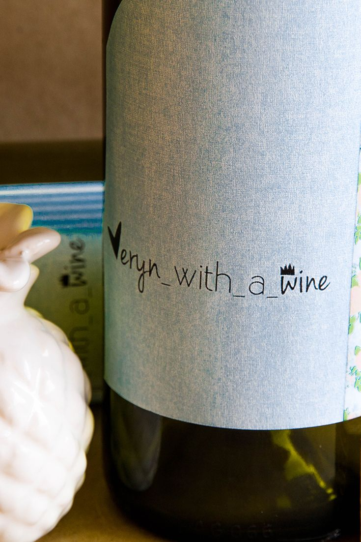 Use label printing software to make a personalised wine bottle label, perfect for party favors, wedding favors or a blogger who simply loves wine!