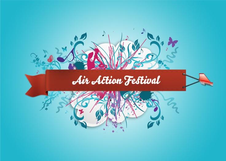 Logo on Air action house music festival #music #festival #musicfestival #housemusic #airaction #airactionfestival #design #logo #logotype