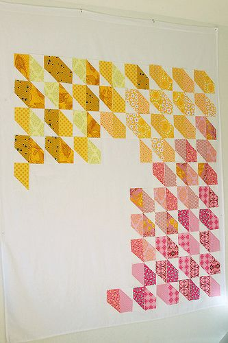 9 Quilt design wall ideas on STITCHthis! (This one is a flannel sheet from You Had Me at Bonjour)