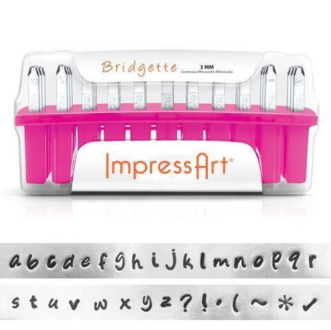 ImpressArt Slagletters Bridgette kleine letters 3 mm