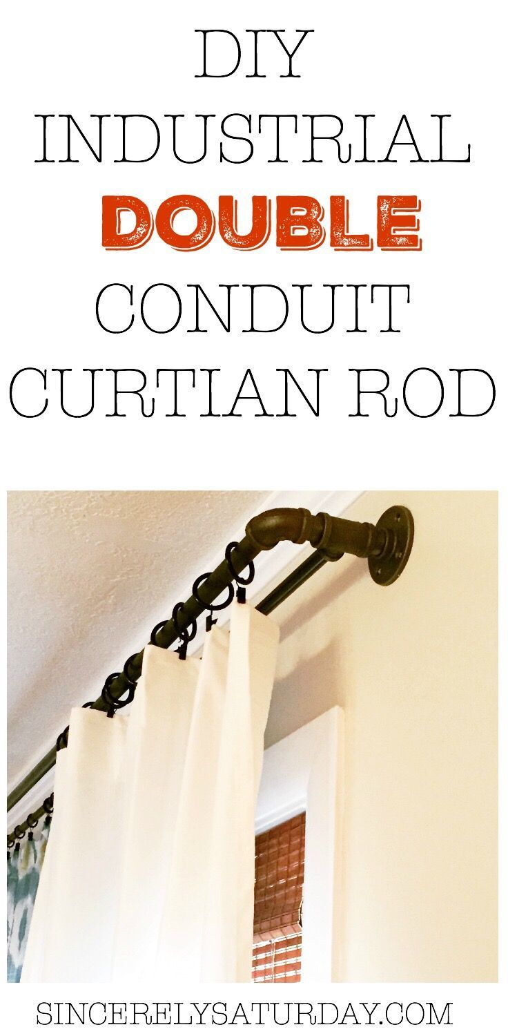 17 Best Ideas About Industrial Curtain Rod On Pinterest