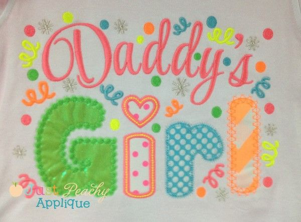 Daddy's Girl Applique Saying Design