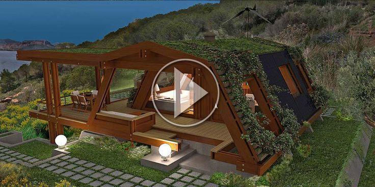 maison en bois futuriste sur l'île d'Elbe