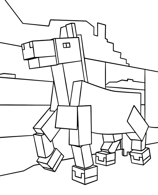 A Horse From Minecraft Coloring Page Topcoloringpages Net Horse Coloring Coloring Pictures Minecraft Coloring Pages