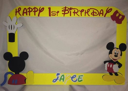 photo frame party prop mickey mouse by titaspartycreations 3500 - Mickey Mouse Picture Frames