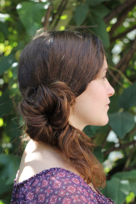 DIY Messy Side Ponytail